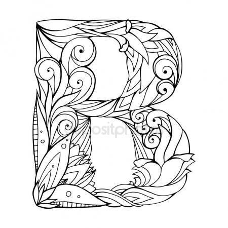 450x450 Coloring Adult Alphabet Stock Vectors, Royalty Free Coloring Adult