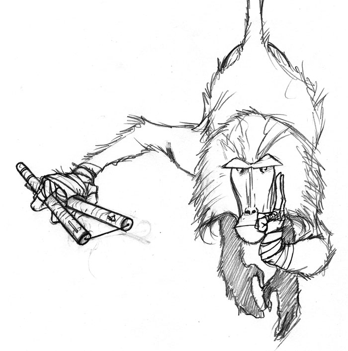 Baboon Drawing At Getdrawings Com