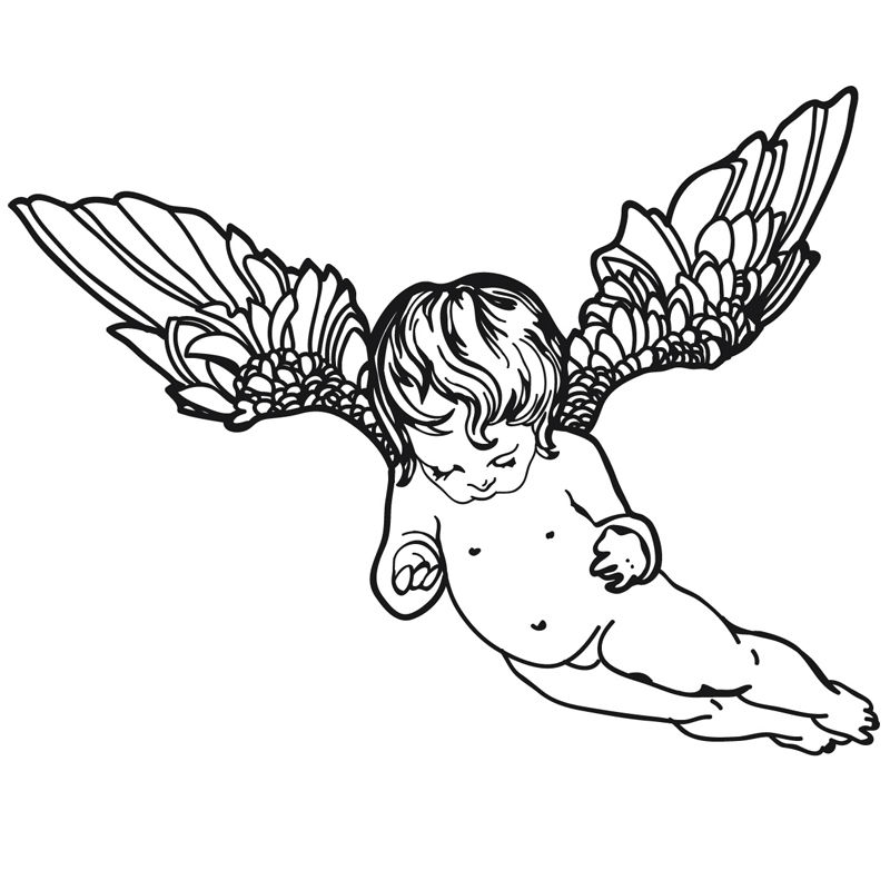 800x800 Cute Home Decor Flying Cherub Wings Angel Wall Decal Removable Art