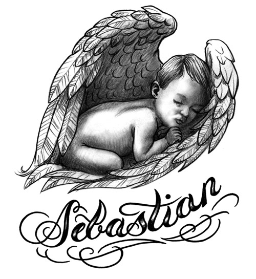 500x545 Baby Angel Wings Tattoo Baby Angel Tattoos And Its Different