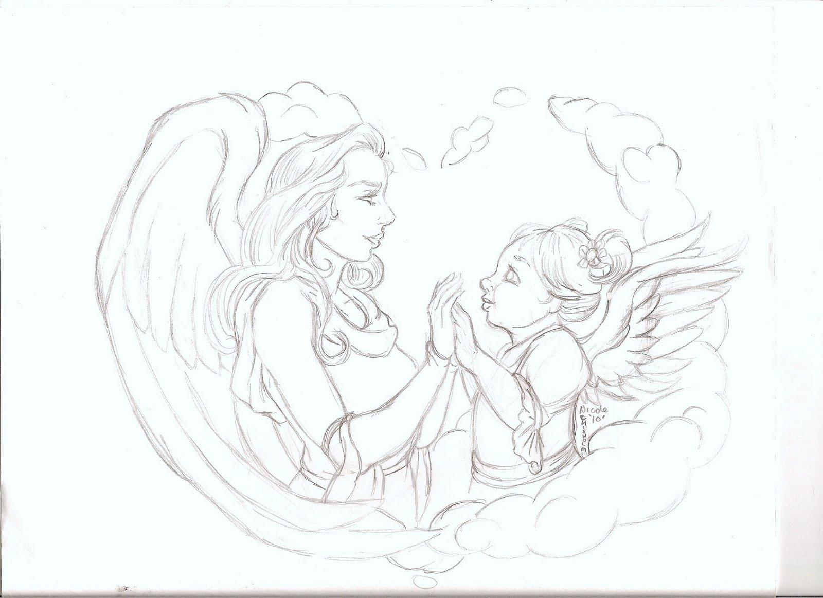 1600x1163 Nikki's Angels Angel Art Sketches
