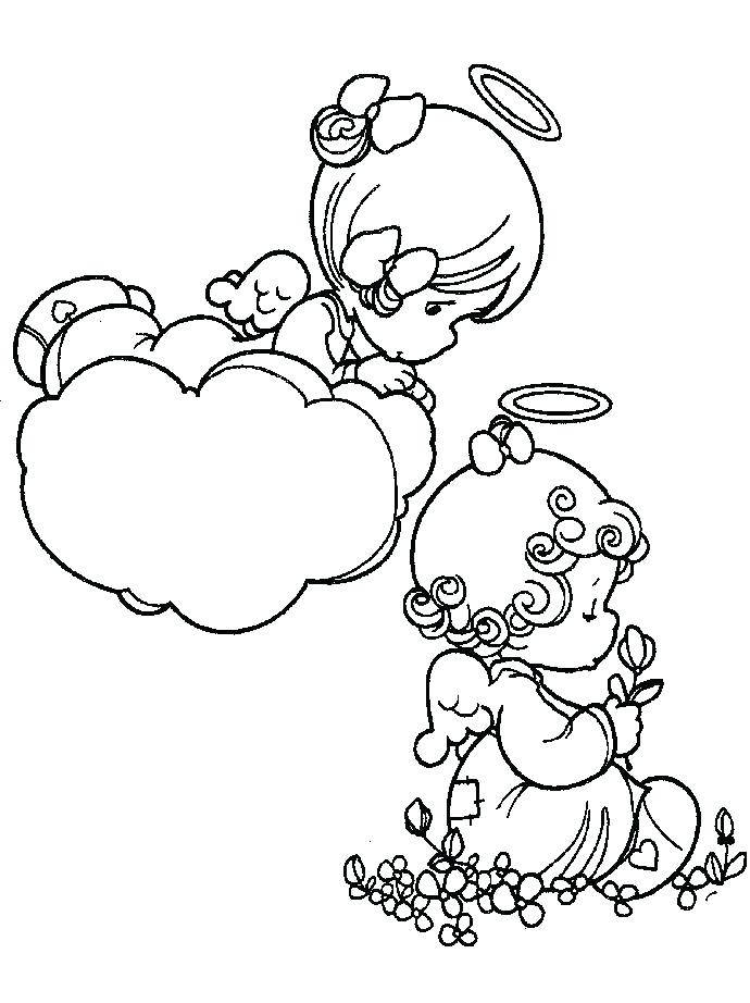690x922 Anime Angel Coloring Pages