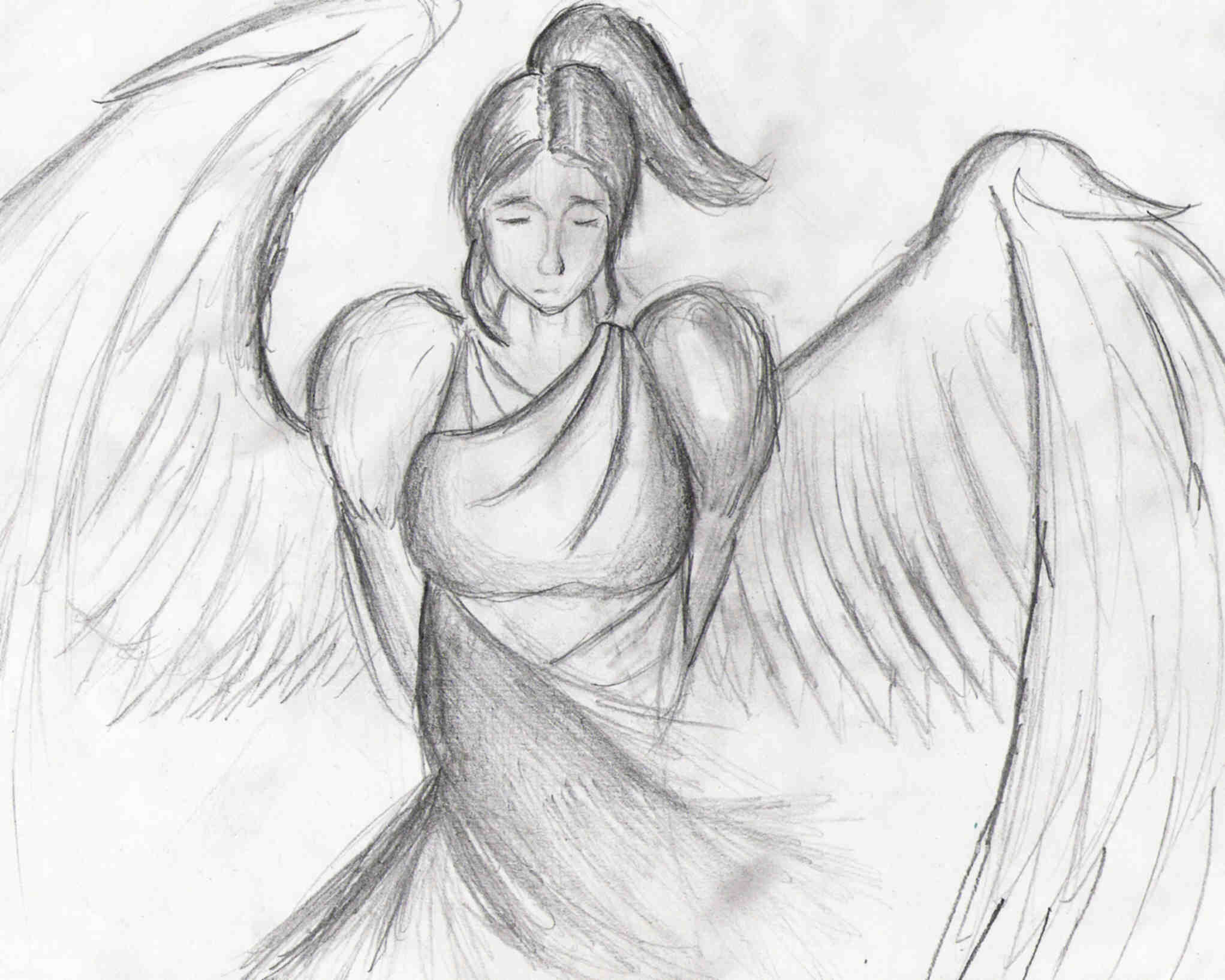 2043x1635 Angel Concept Drawing By Zeknif