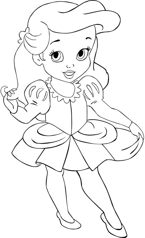 Baby Ariel Drawing at GetDrawings.com | Free for personal use Baby ...