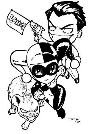 Baby Batman Drawing