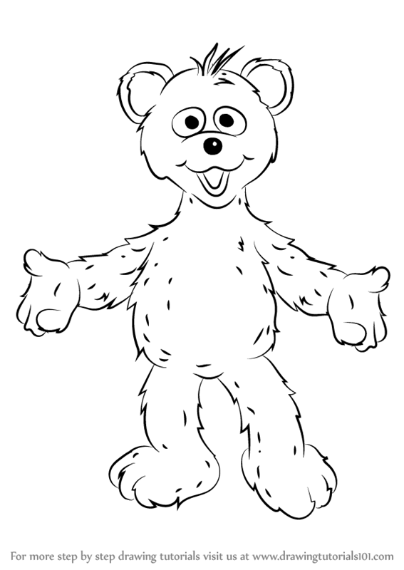 567x800 Learn How To Draw Baby Bear From Sesame Street (Sesame Street