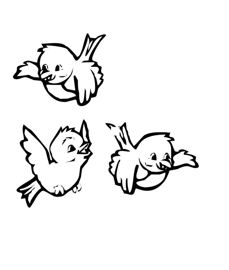 Baby Birds Drawing
