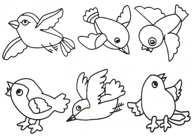 643x458 Coloring Sheets For Kids Flying Bird Page Birds