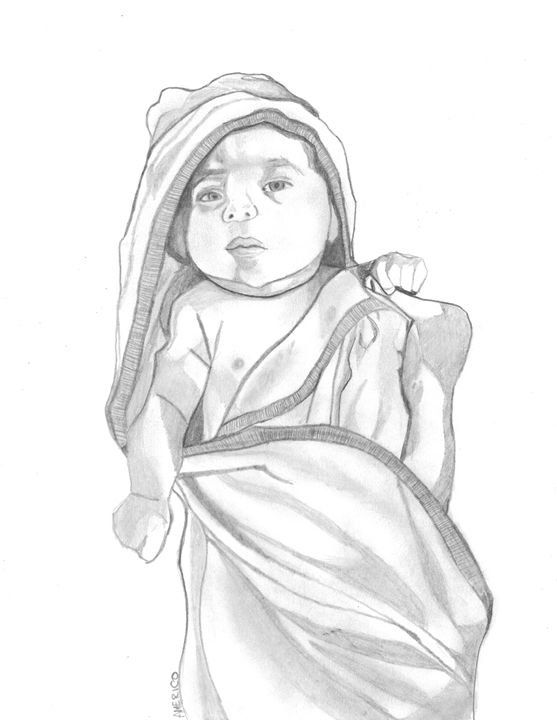 557x720 Baby Wrapped In Blanket