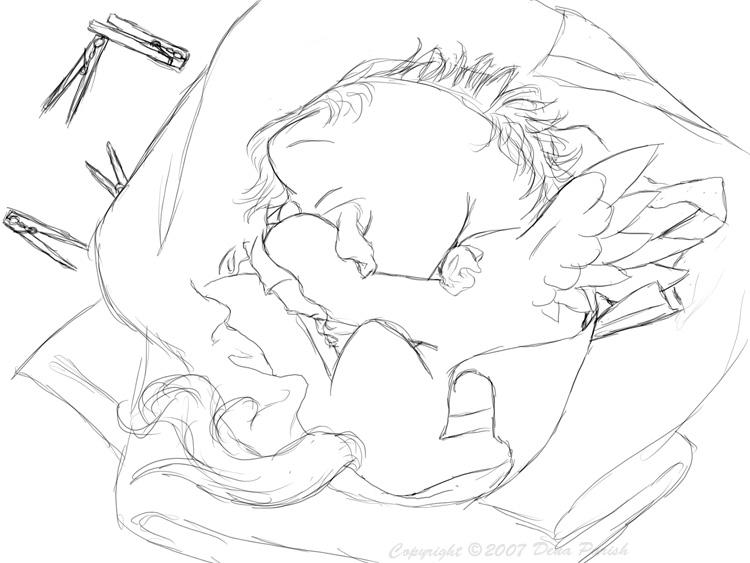 750x563 Baby Blanket Sketch By Flyingpony