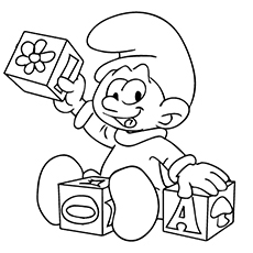 230x230 Smurf Coloring Pages