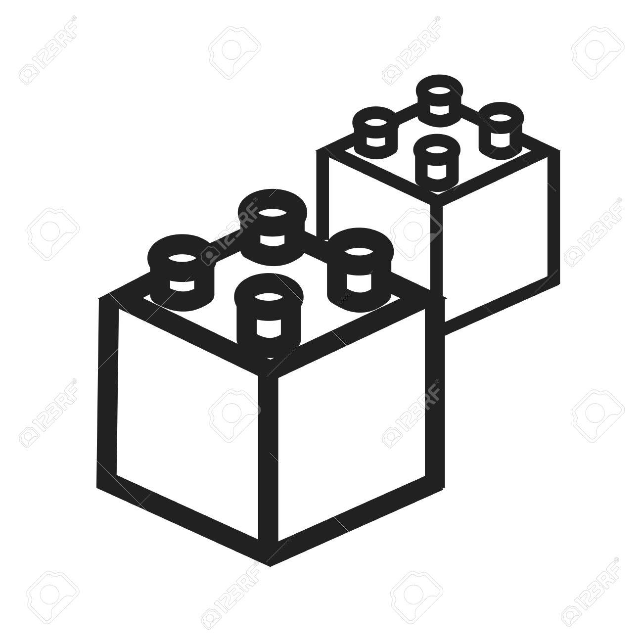 1300x1300 Blocks, Toy, Building Icon Vector Image.can Also Be Used