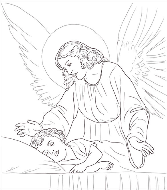 Baby Boy Angel Drawing