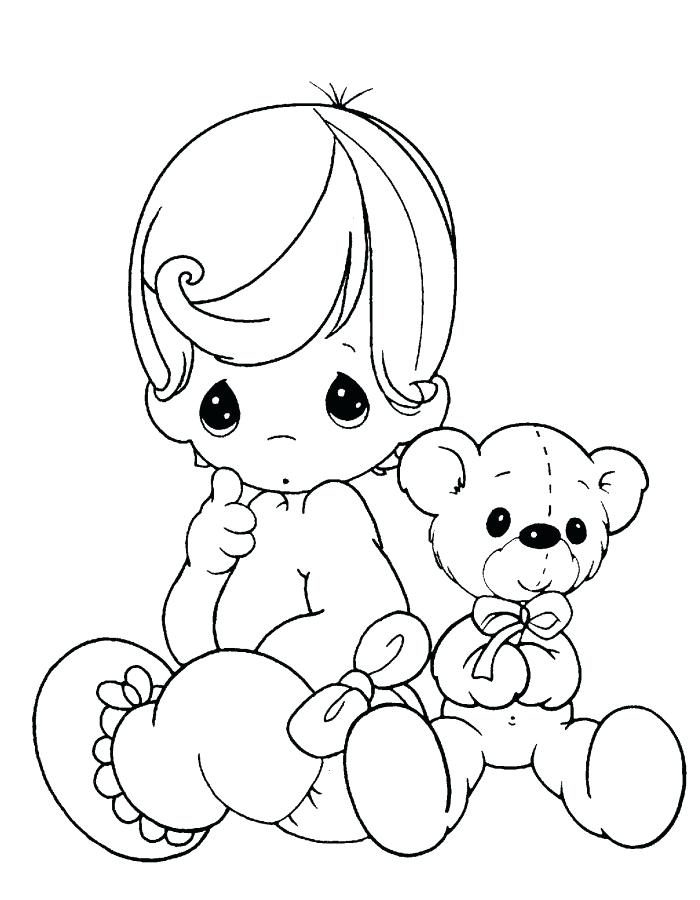700x900 Baby Boy Coloring Pages 91 Also Happy Baby Coloring Pages Precious