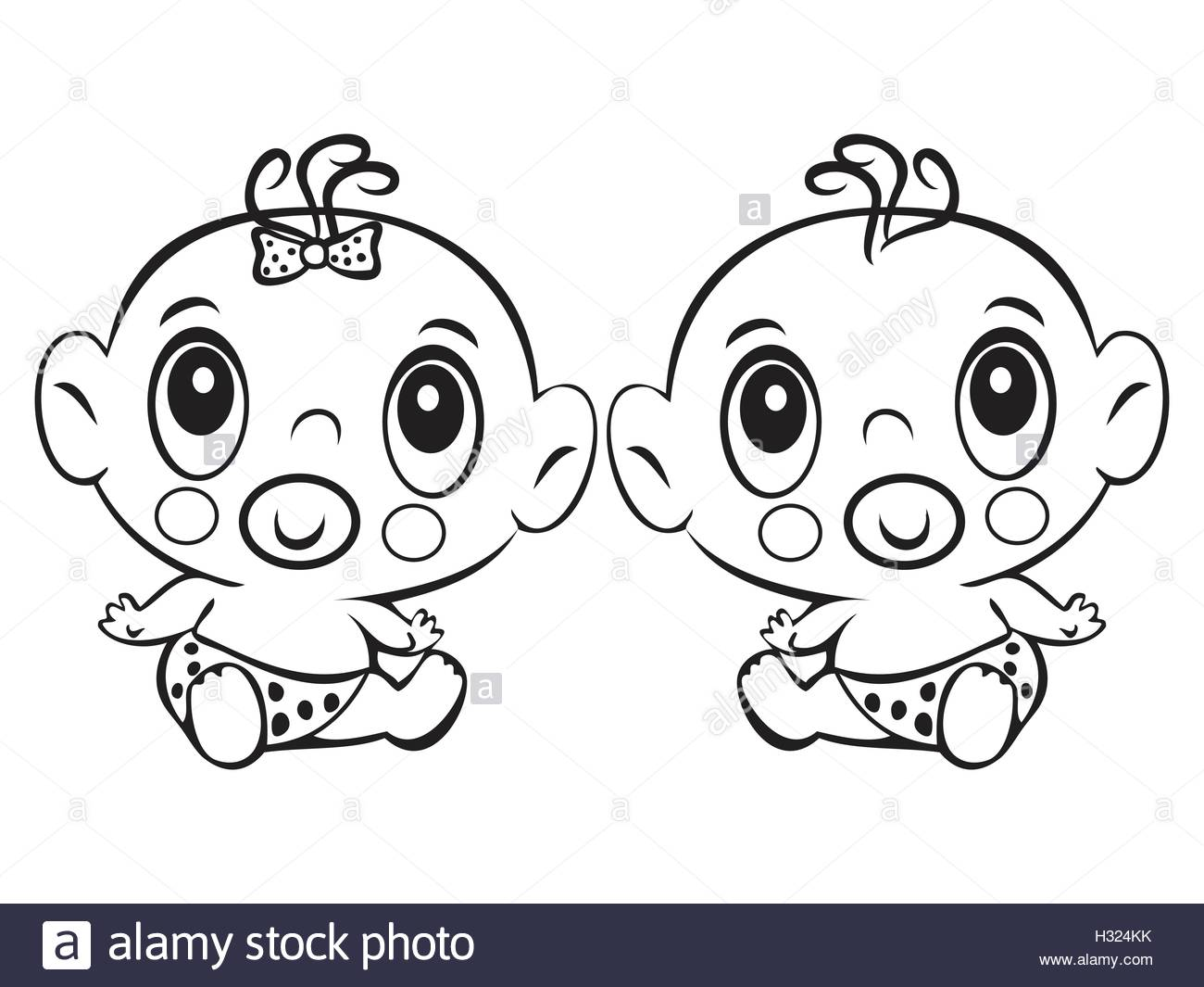 1300x1065 Two Funny Baby Sitting. Cute Baby Boy And Girl Sitting In A Diaper