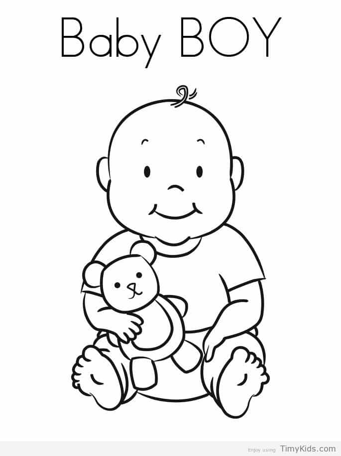 685x916 Baby Boy Coloring Page Timykids