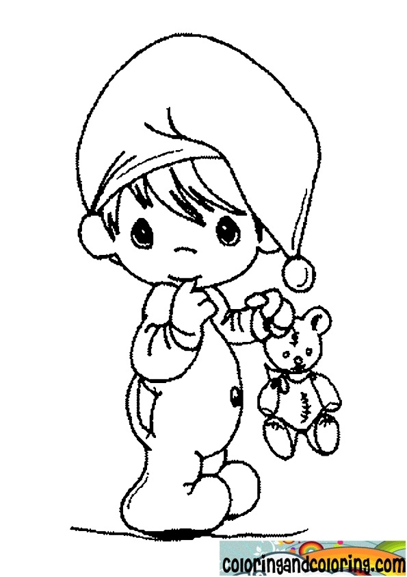 595x842 Baby Precious Moments Coloring Pages Baby Boy For Nursery Walls