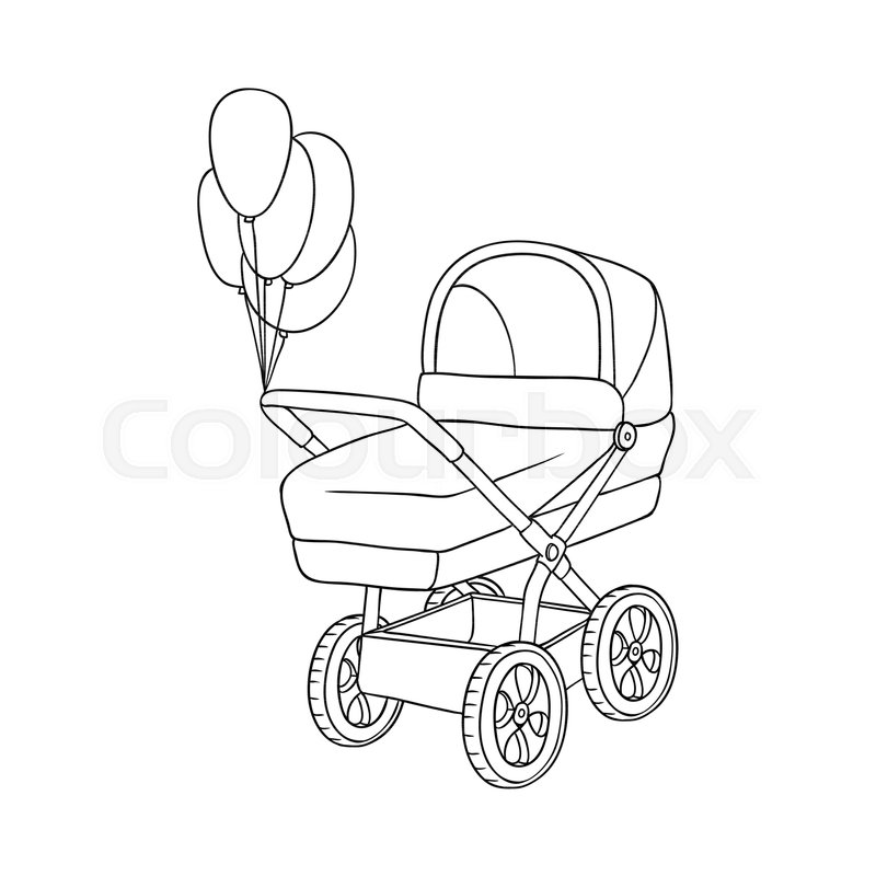 Baby Carriage Drawing At Getdrawings Com