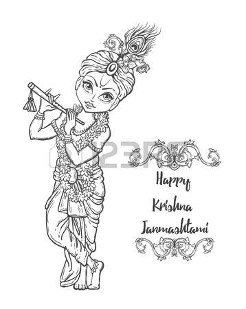 358x450 Pictures Shri Krishna Cartoon Drawings Sketches,