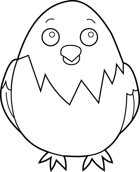 448x550 baby chick coloring page - Chick Coloring Page 2