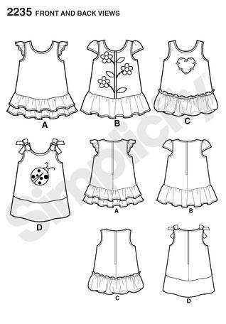 318x456 Simplicity 2235 Babies' Dresses
