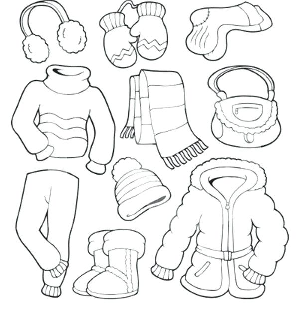 600x630 Awesome Baby Clothes Coloring Pages Free Download Best Winter