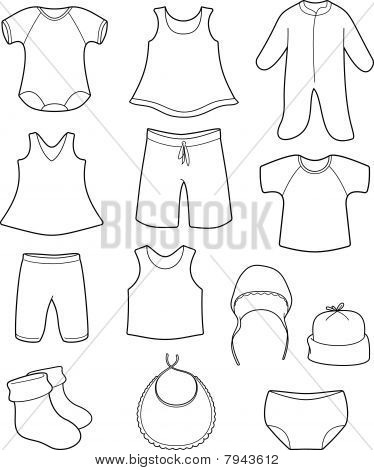 Baby Clothes Drawing At Getdrawings Com Free For Personal