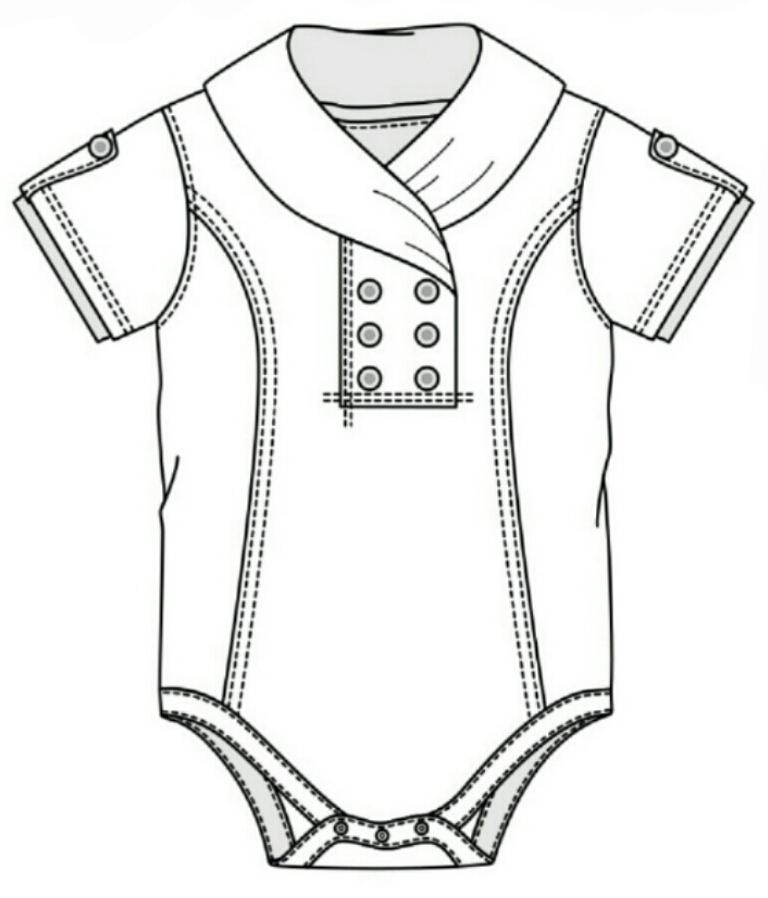768x898 I A M S O K I T S C H Technical Flats Kids Clothes