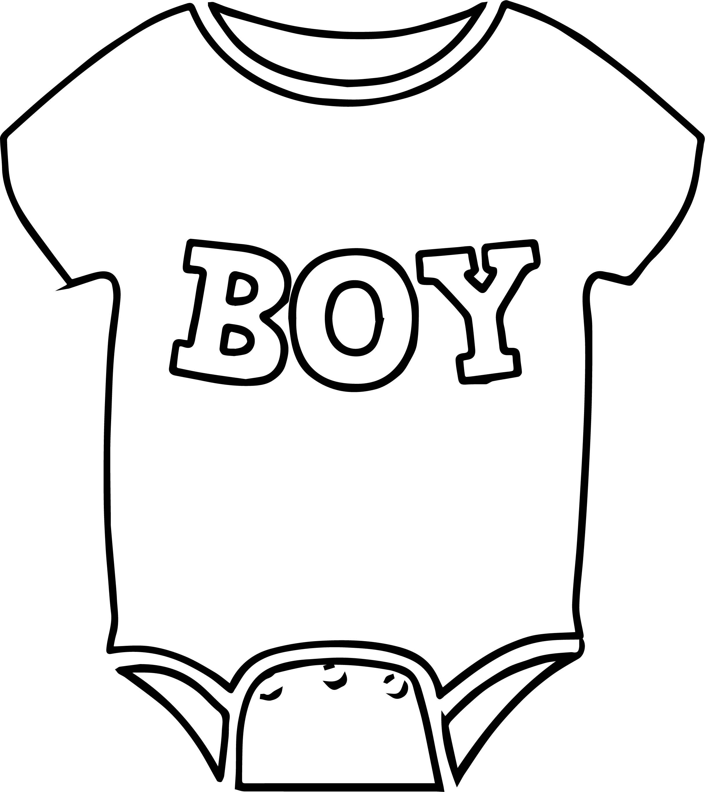 Baby clothes drawing at free for for Clothing coloring page