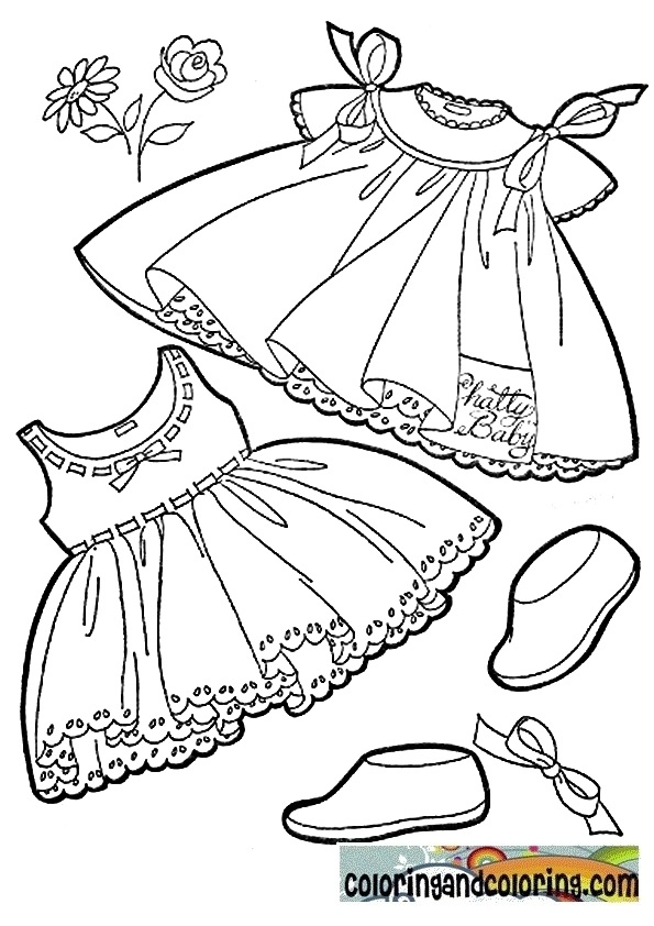 595x842 Baby Clothes Coloring Pages