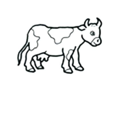 420x420 Coloring Page Baby Cow Pages Black And