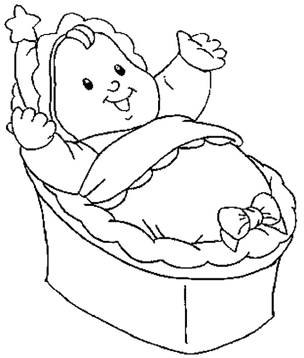 600x706 Bassinet Coloring Page Marriage Coloring Pages