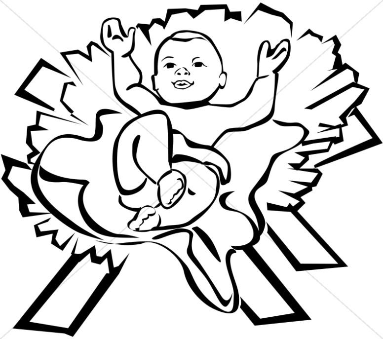 776x687 Cartoon Baby Jesus Group