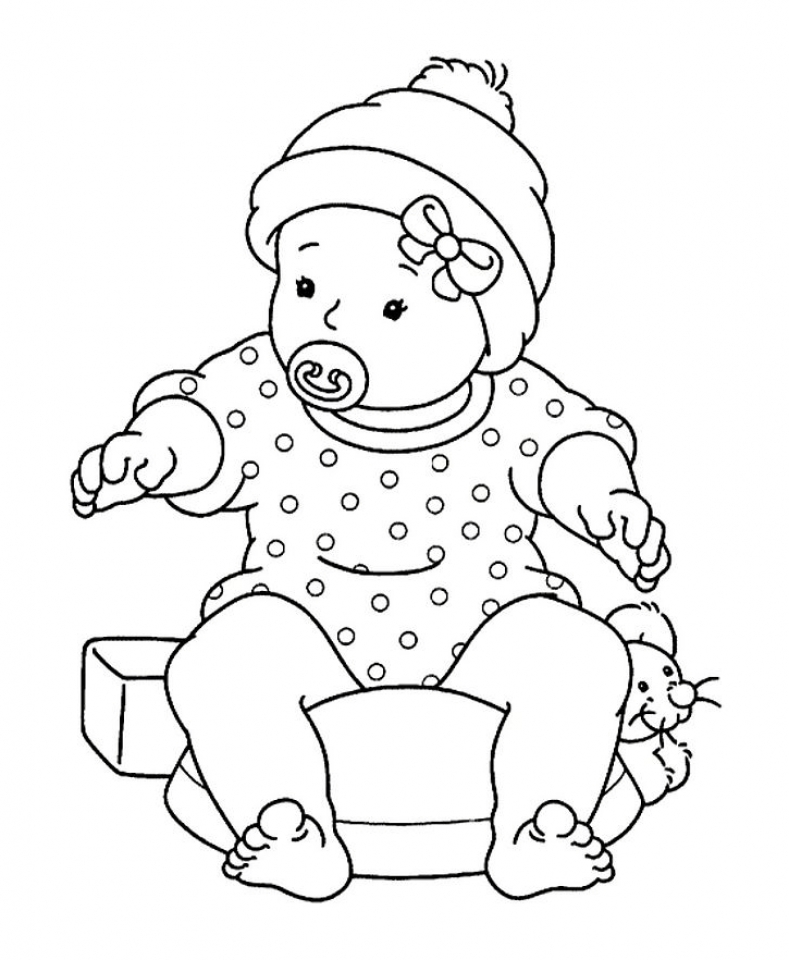 789x960 Coloring Page Baby Crawling Coloring Page
