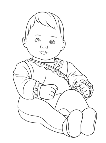 358x480 American Girl Bitty Baby Coloring Page Free Printable Coloring Pages