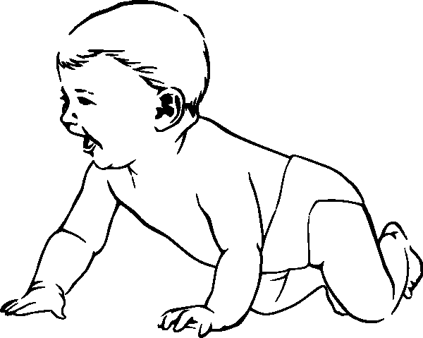 600x479 Baby Coloring Pages