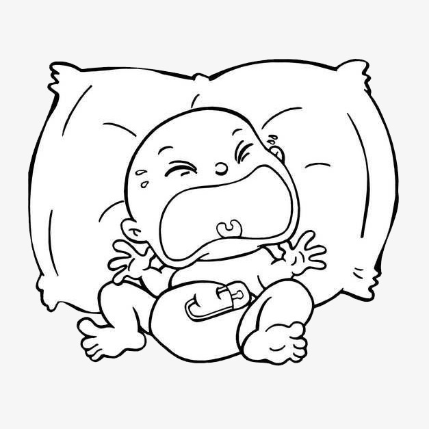 627x627 Hand Drawn Crying Baby, Baby Crying, Baby, Crying Baby Png Image