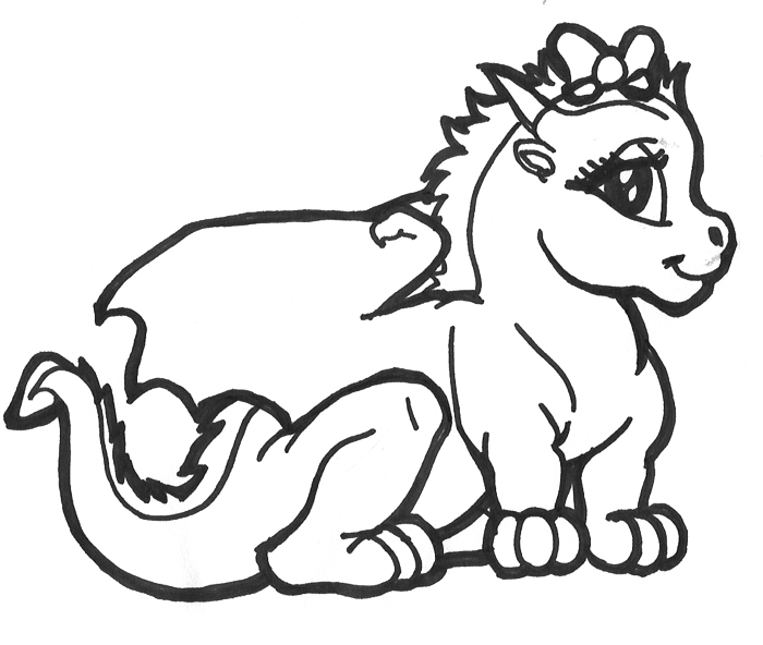 700x592 Baby Dragon Coloring Pages