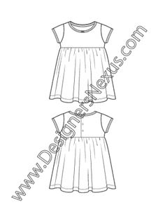 Baby Dress Drawing