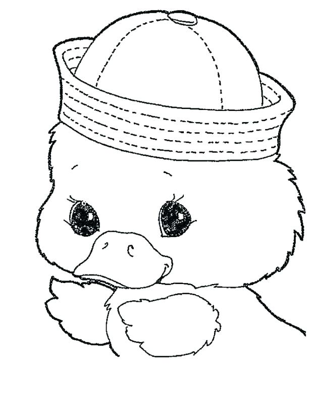 618x781 Baby Duck Coloring Page Cute Pages Share