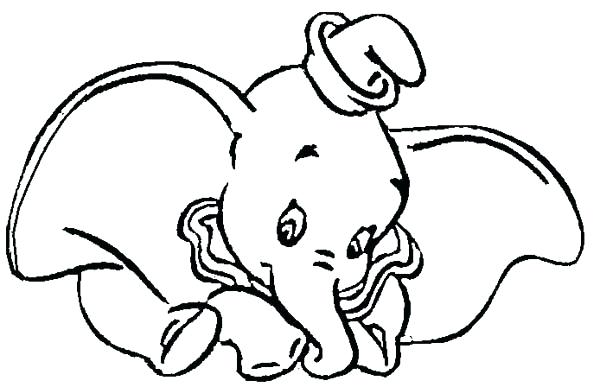 600x387 Elephant Coloring Pages Cute Baby Elephant Elephant Coloring Pages