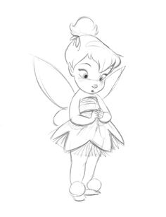 236x307 How To Draw Disney Characters How To Draw Tinkerbell Easy Step 1