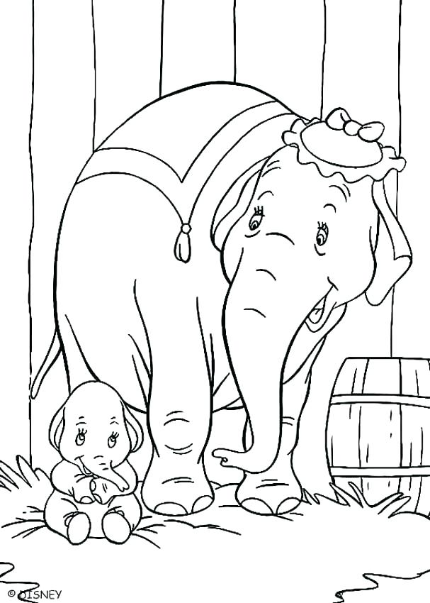 607x850 Dumbo Coloring Page Cortefocal.site