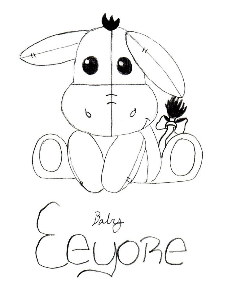 Baby Eeyore Drawing
