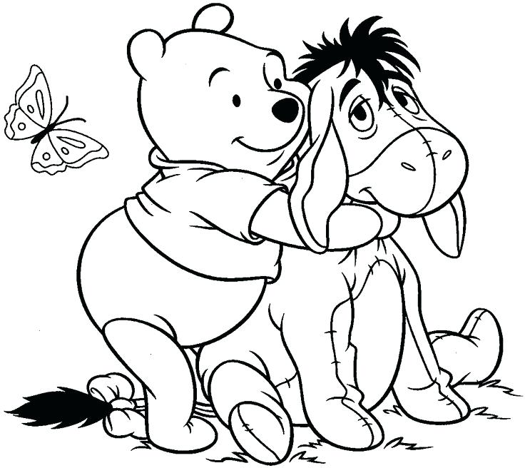 736x656 Baby Eeyore Coloring Pages Be Embraced Baby Eeyore Colouring Pages