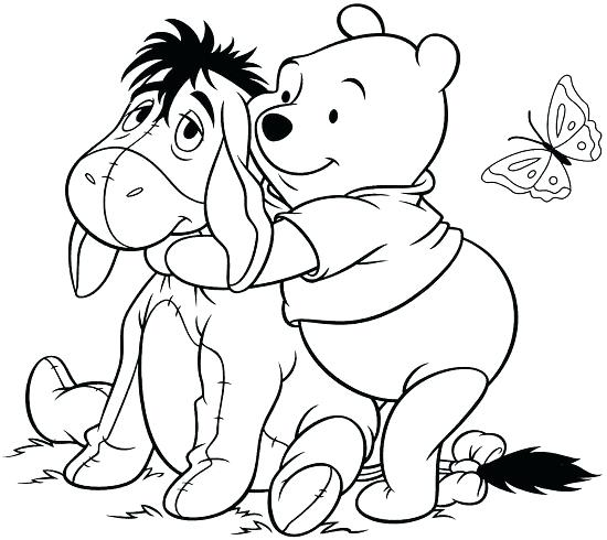 550x490 Baby Eeyore Coloring Pages The Pooh Coloring Sheets The Pooh