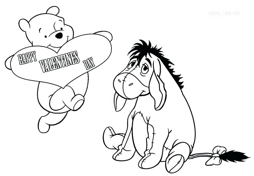 850x588 Baby Eeyore Coloring Pages Valentine Coloring Pages Baby Eeyore