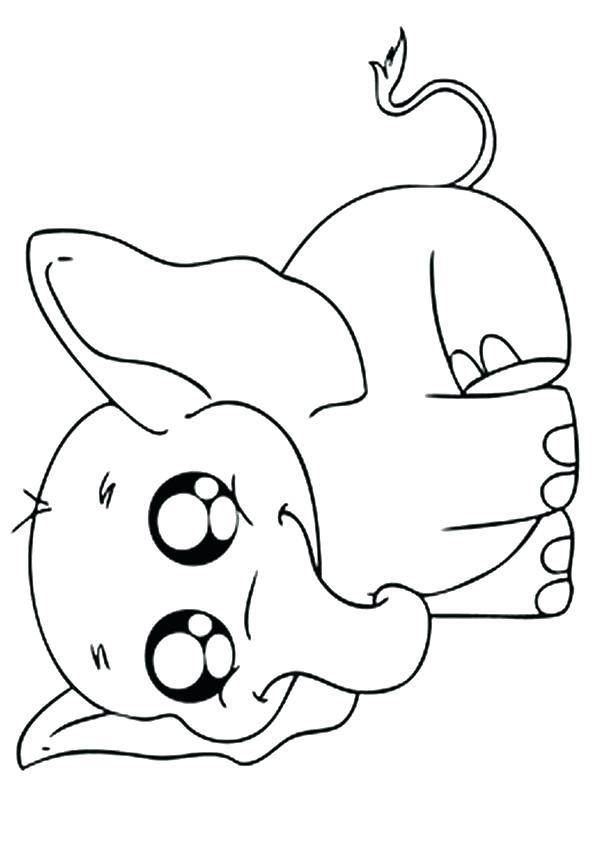 Baby Elephant Cartoon Drawing