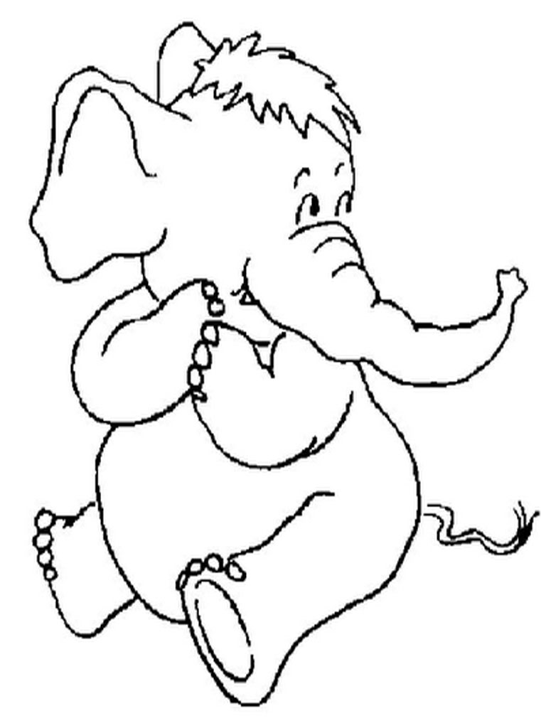 768x1024 Free Printable Elephant Coloring Pages For Kids