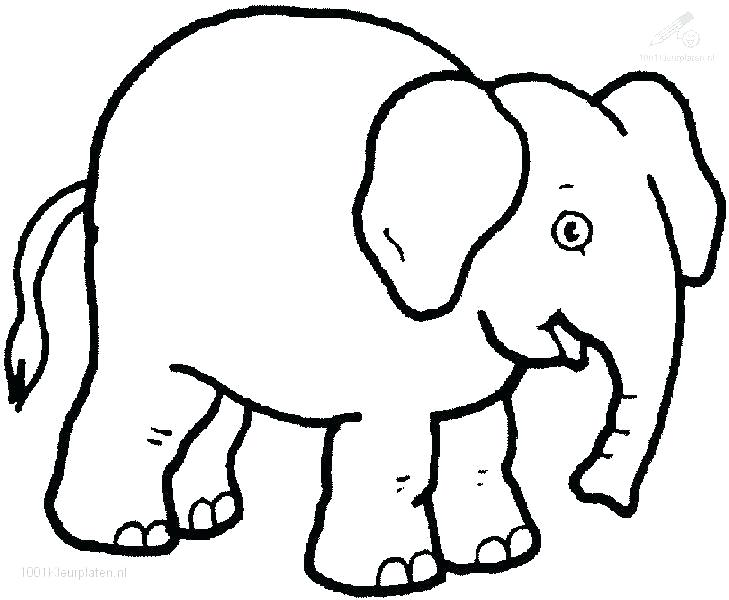 729x600 Elephant Coloring Pages Baby Elephant Drawing For Kids Elephant